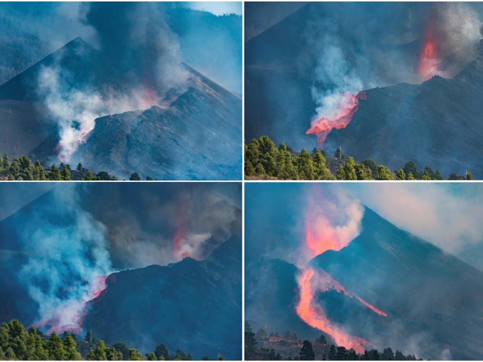 Derrumbe del flanco norte del cono del volcán de Cumbre Vieja