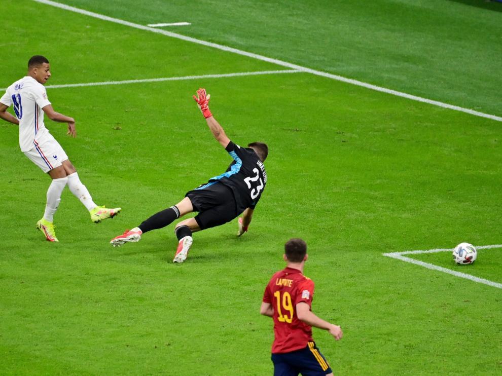 Gol de Mbappé ante España