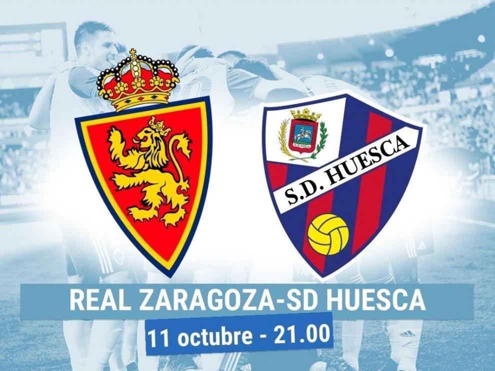 Horario y dónde ver el Real Zaragoza-Huesca.