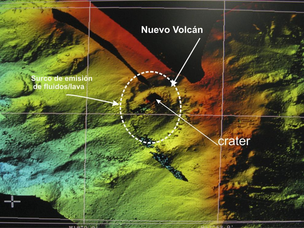 Volcán submarino Tagoro en El Hierro en 2011.