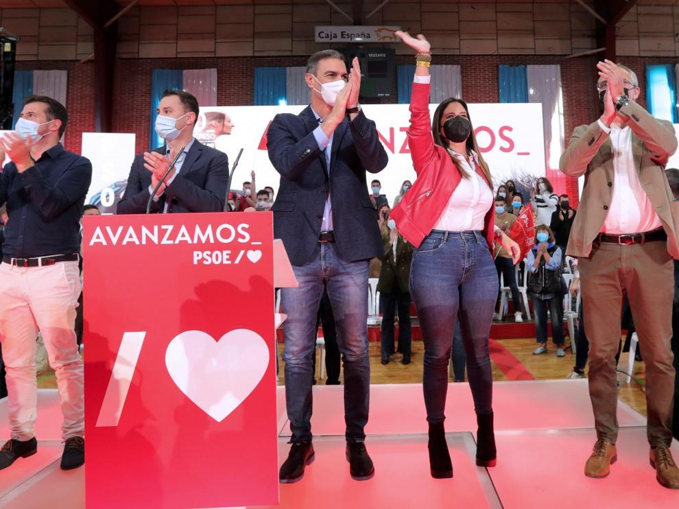 Sánchez, el pasado domingo en un acto en Ponferrada