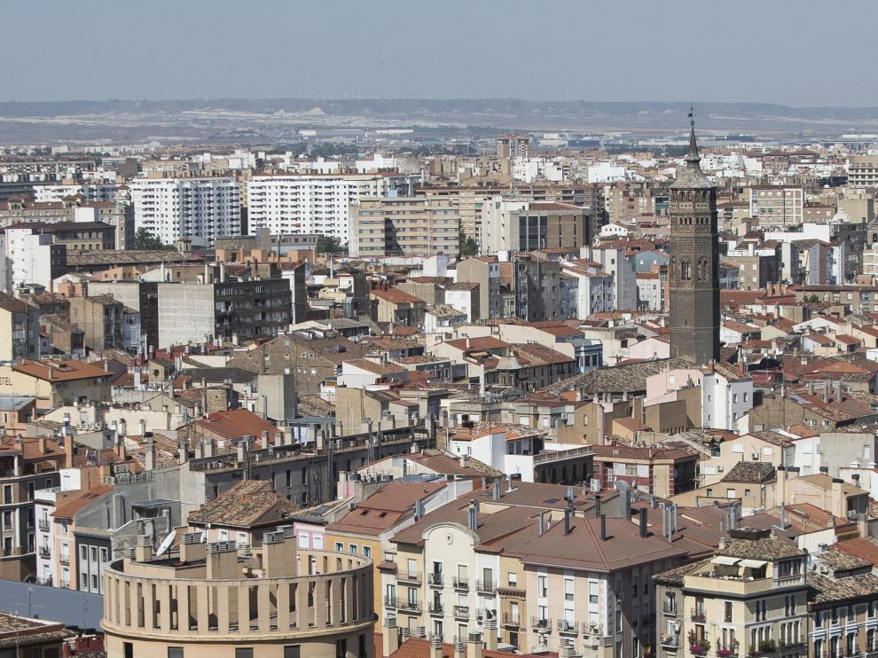 Vistas del Casco Histórico de Zaragoza.