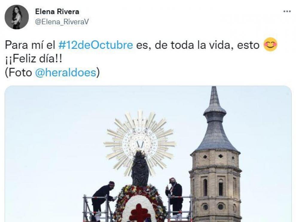 De Elena Rivera a Amaral: así celebran los famosos aragoneses el Día del Pilar en las redes