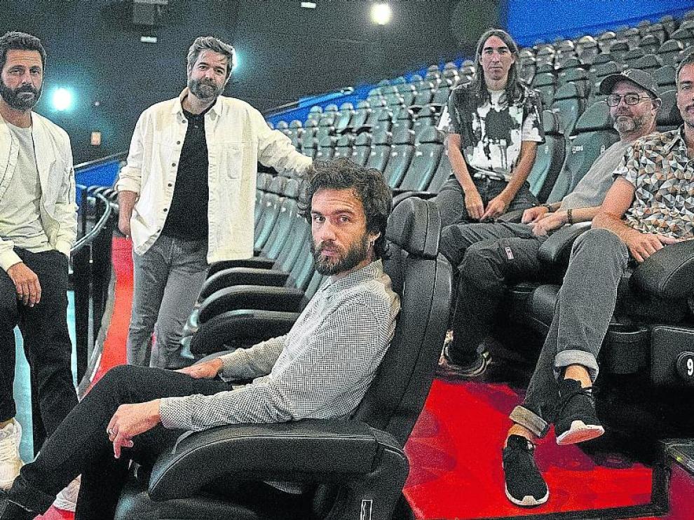 Guille Galván -en primer término- y el resto de la banda, en la sala iSens de Madrid.