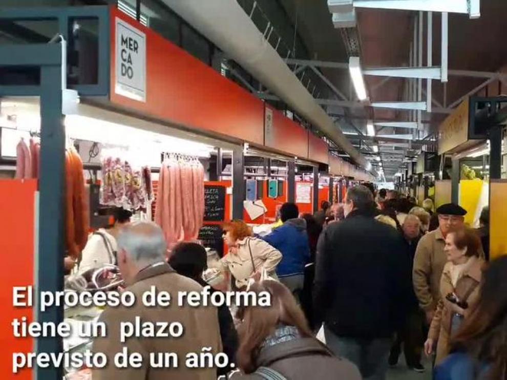 El mercado provisional abre sus puertas en Zaragoza