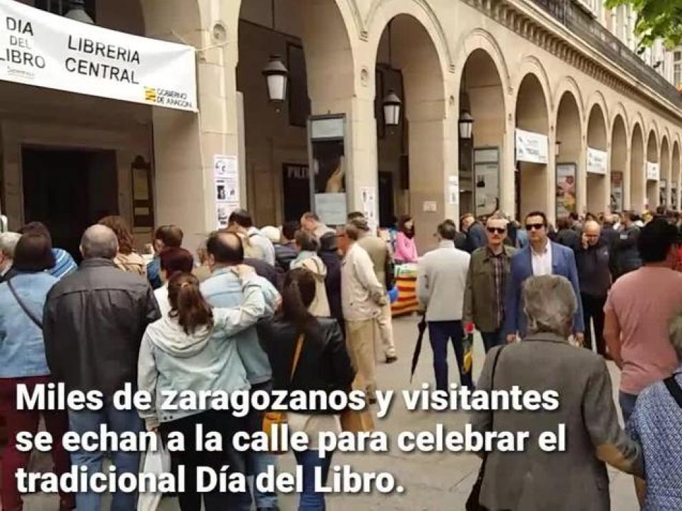 Miles de personas disfrutan del Día del Libro en Zaragoza