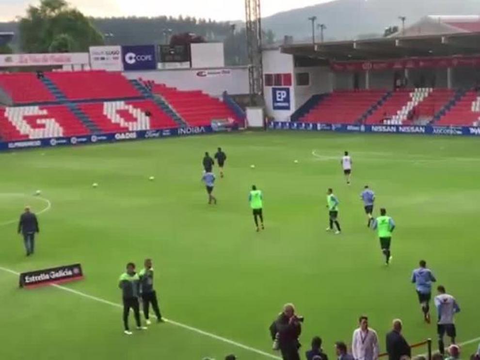 Primeros toques de balón en el Ángel Carro de Lugo