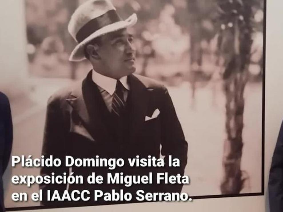 Plácido Domingo visita el Museo Pablo Serrano de Zaragoza