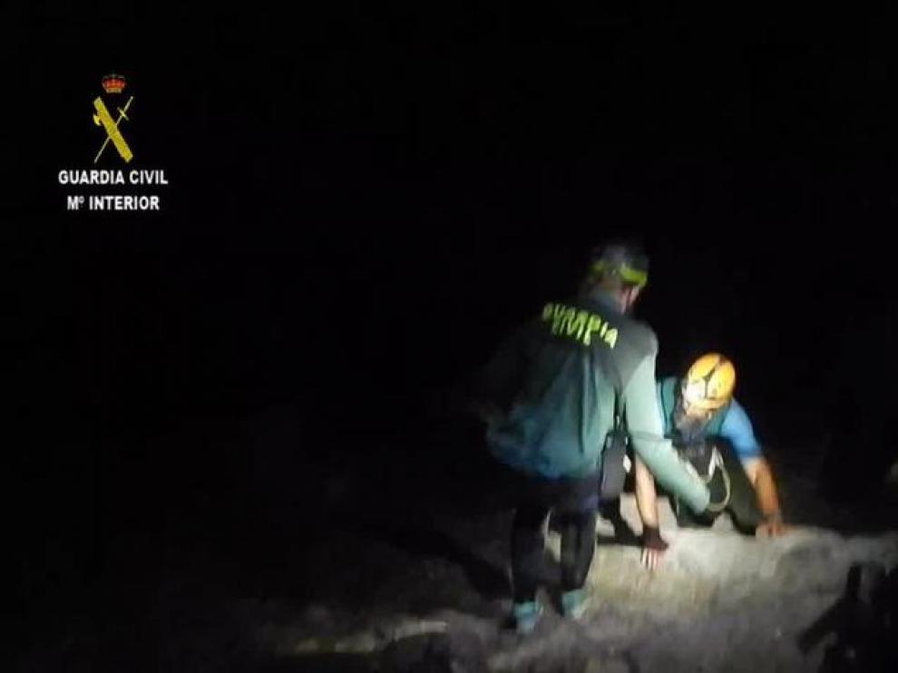 Rescate de 9 barranquistas, 7 de ellos menores en el barranco del Vero