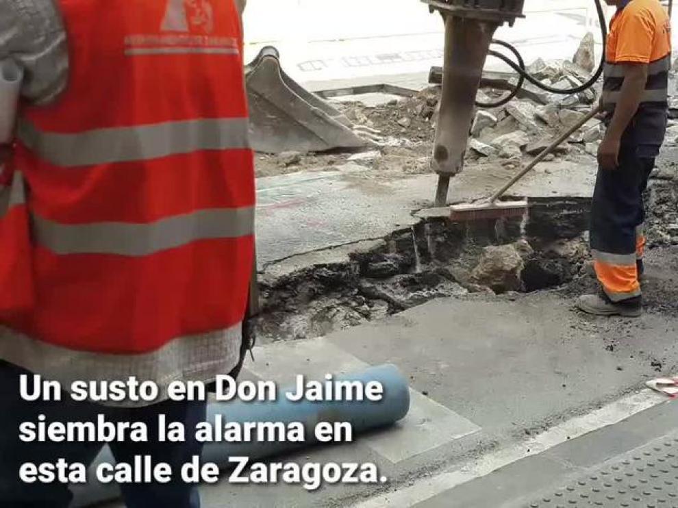 Un escape de gas ya controlado en Don Jaime siembra la alarma en el centro de Zaragoza