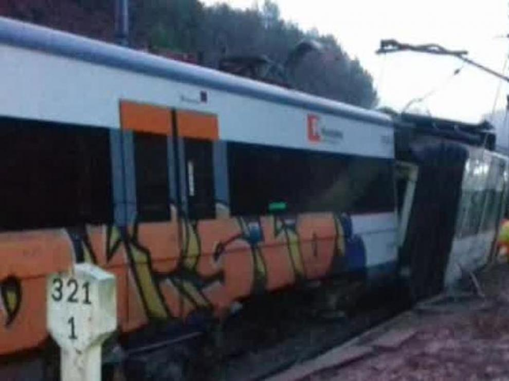 Un muerto en un descarrilamiento de un tren de cercanías en Cataluña