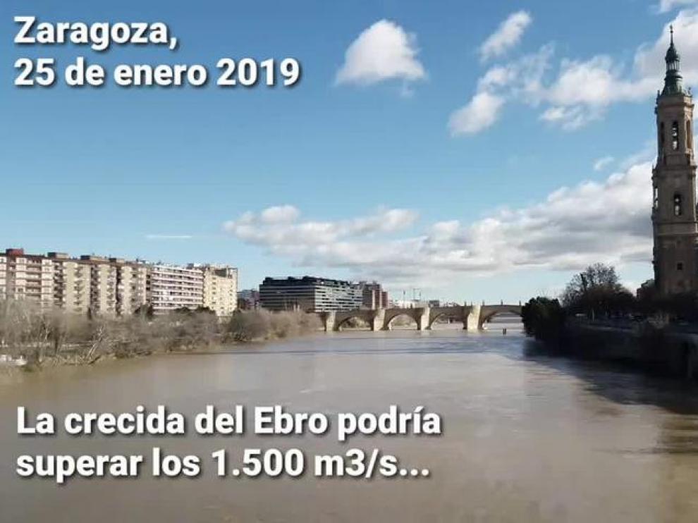 La DGA activa la alerta por la previsión de crecida ordinaria del Ebro