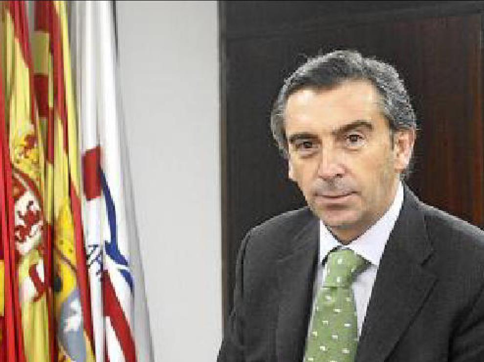 Luis María Beamonte, en su despacho de la sede del PP.