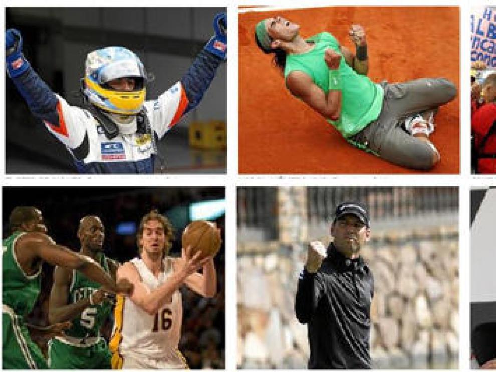 Imágenes que resumen los éxitos del deporte español en 2008
