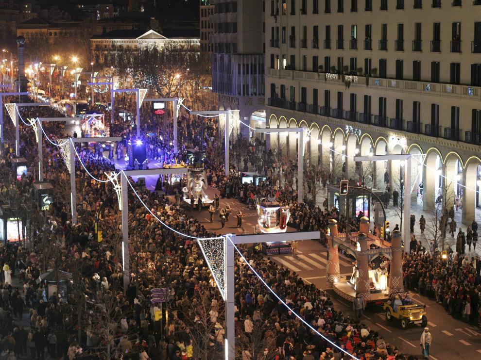 Imagen de archivo de la cabalgata de Reyes de Zaragoza