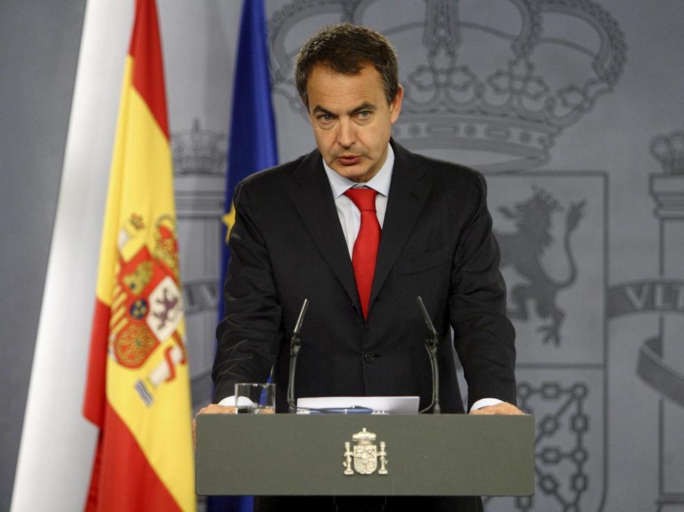El presidente del Gobierno, José Luis Rodríguez Zapatero