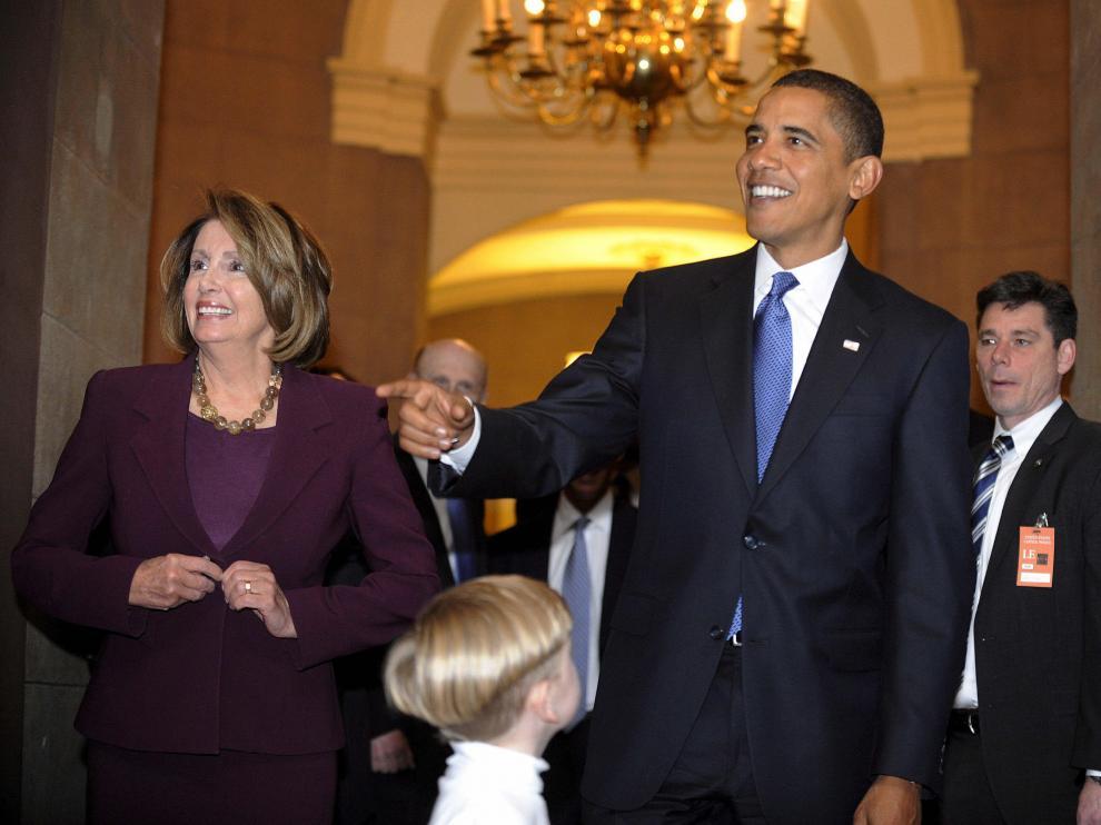El presidente electo se reunió con la la demócrata Nancy Pelosi