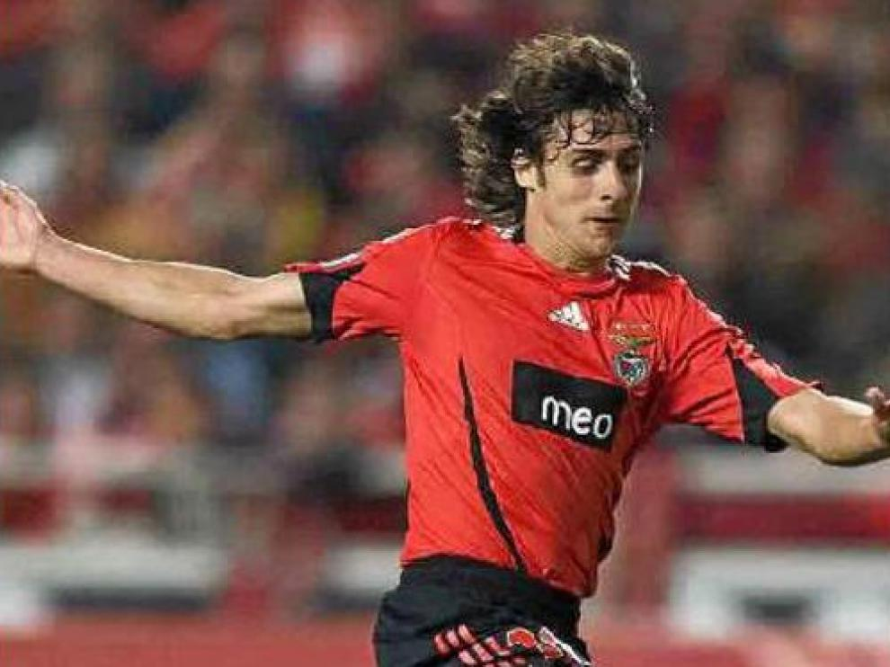 Aimar en su etapa como jugador del Benfica.