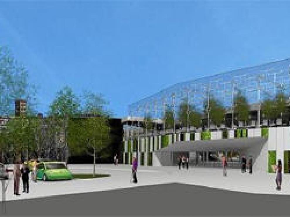 Simulación infográfica del centro comercial Parque Turia, el proyecto en fase más avanzada de tramitación