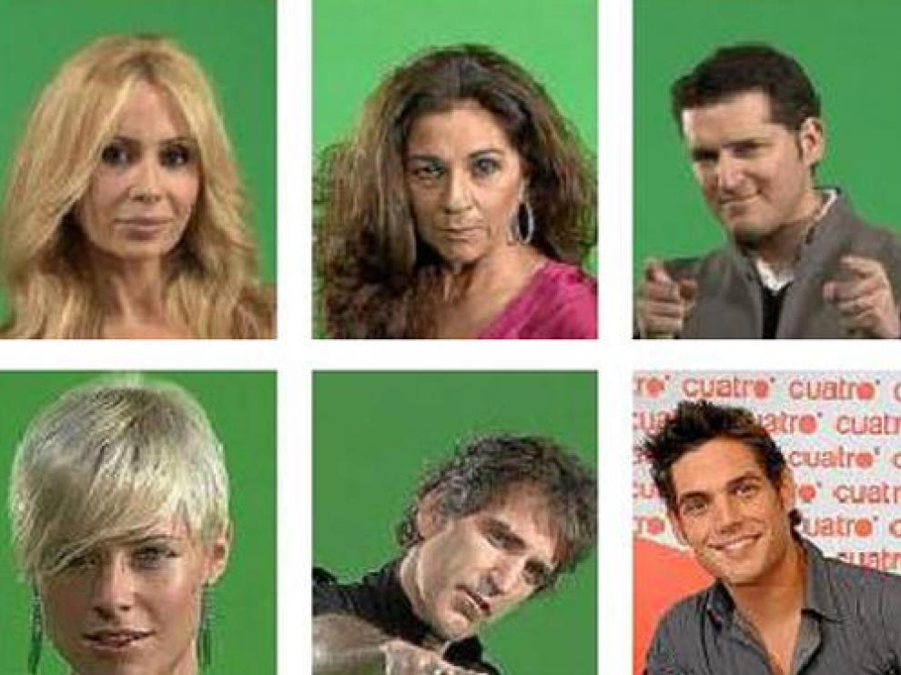 Algunas de las caras conocidas que presenta el programa