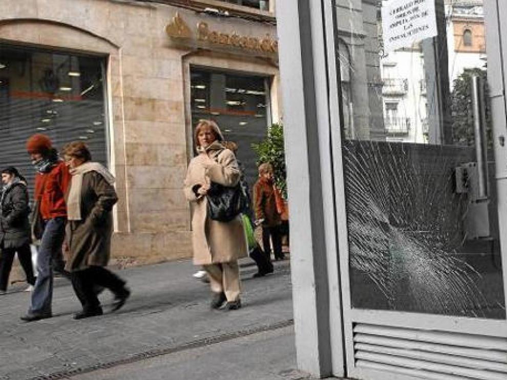 La entrada al complejo subterráneo de la plaza del Torico