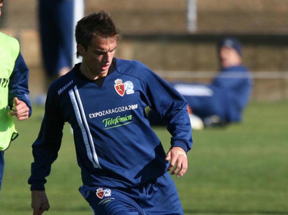 Raúl Goni durante un entrenamiento