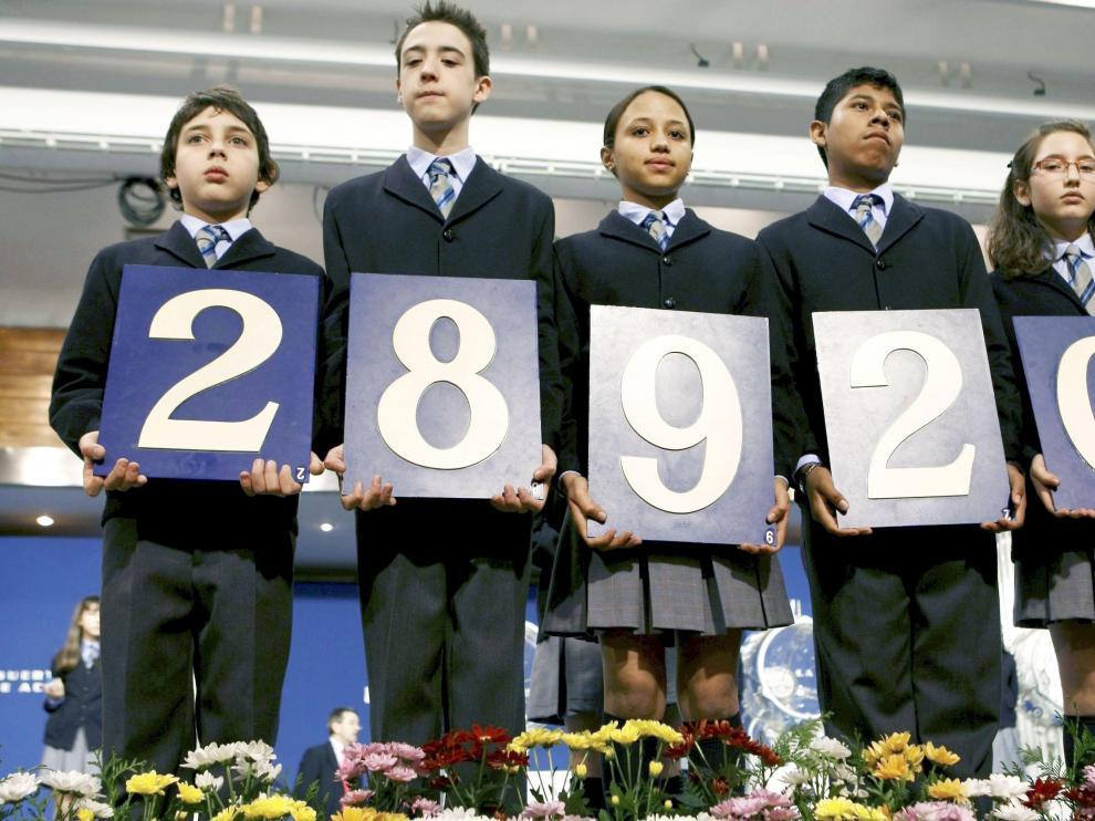Primer premio de la lotería del Niño
