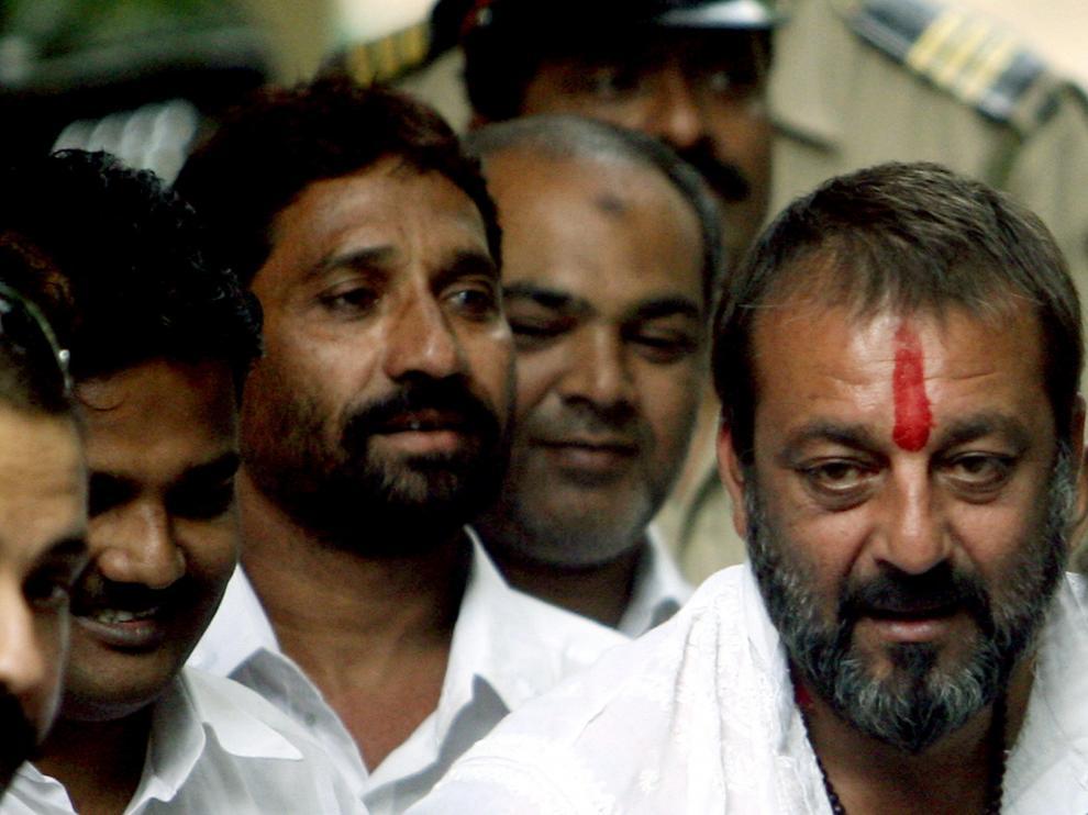 Sanjay Dutt a la derecha en una imagen de archivo.