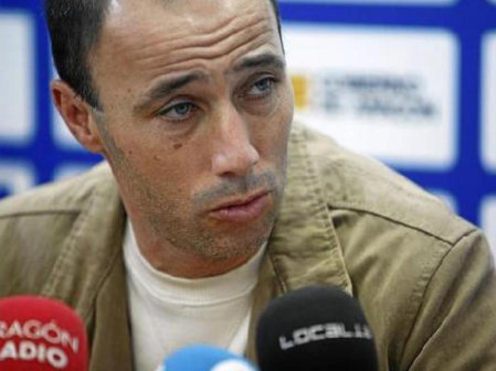 Antonio Calderón, durante la rueda de prensa de ayer