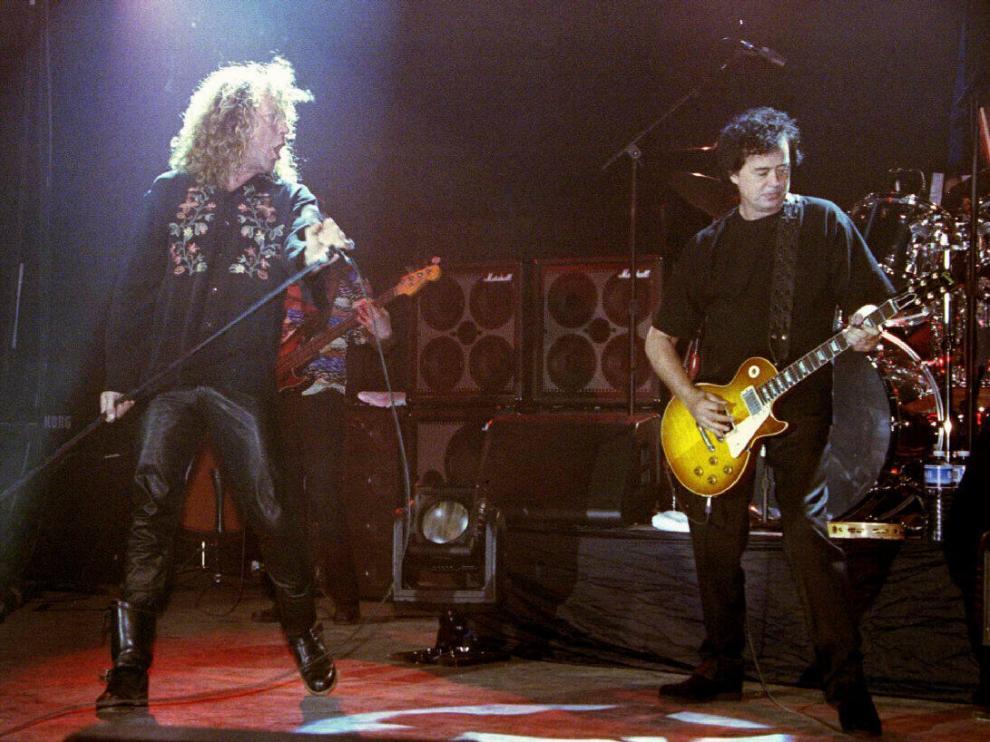 Foto de archivo de Led Zeppelin.
