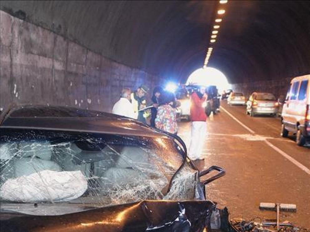 Un accidente de tráfico, en una foto de archivo