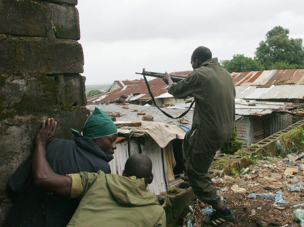 Foto de archivo de la guerra en Sierra Leona