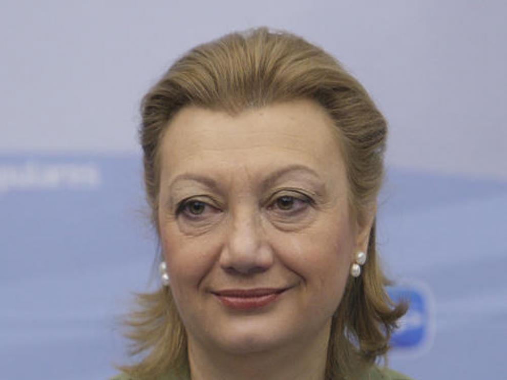 La presidenta del PP aragonés, Luisa Fernanda Rudi