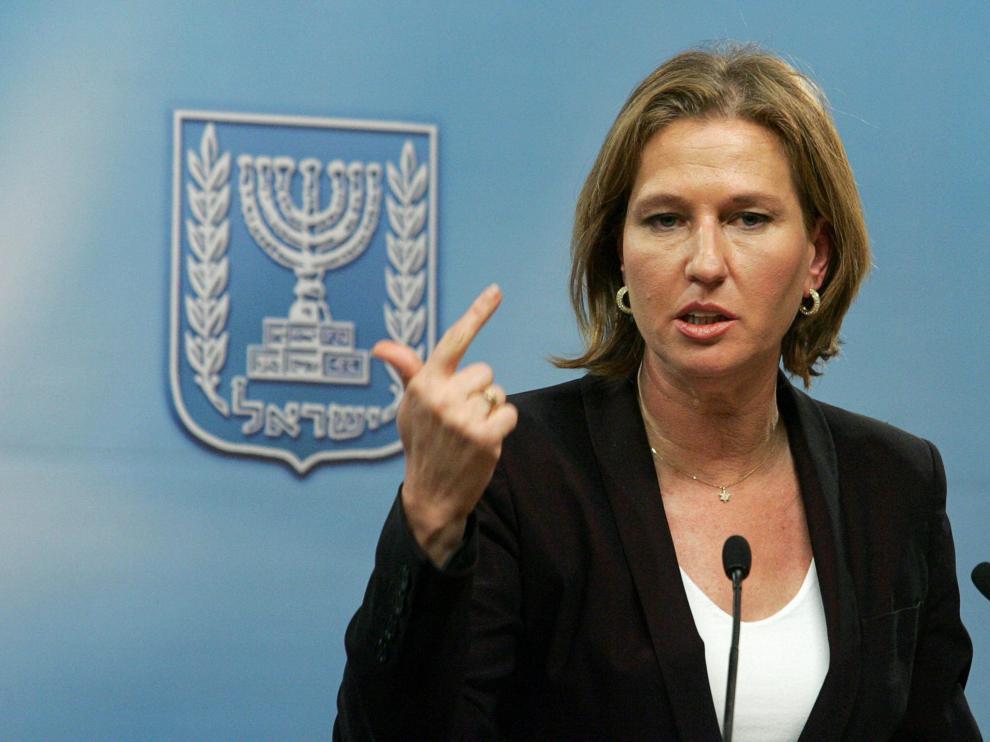 La ministra israelí de Exteriores, Tzipi Livni