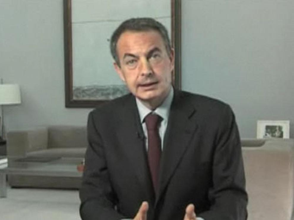 El presdiente del Gobierno, José Luis Rodríguez Zapatero