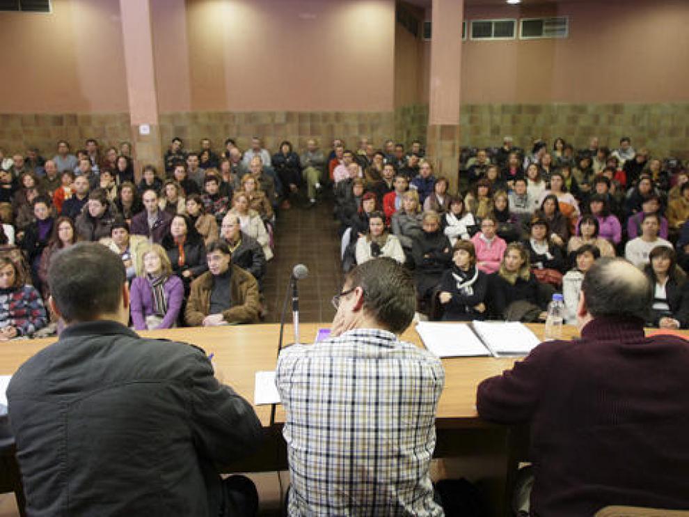 Foto de archivo  de una asamblea de trabajadores de La bella Easo