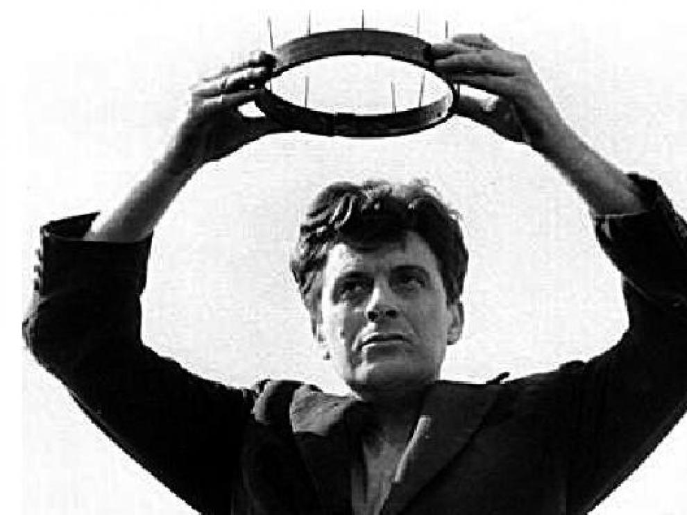 Manuel Rotellar, actuando en el premiado corto ¿El rey¿, de Pomarón.