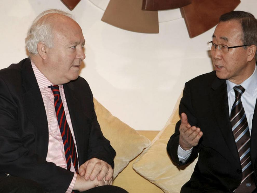 Moratinos y Ban-Ki Moon