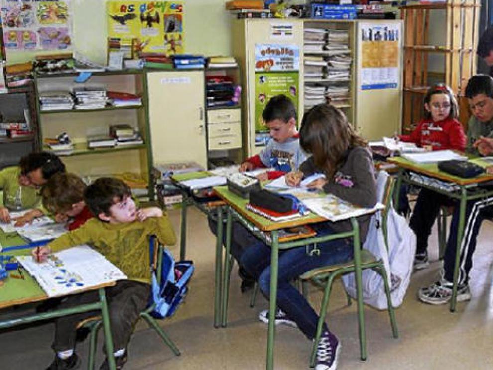 Niños en una clase.