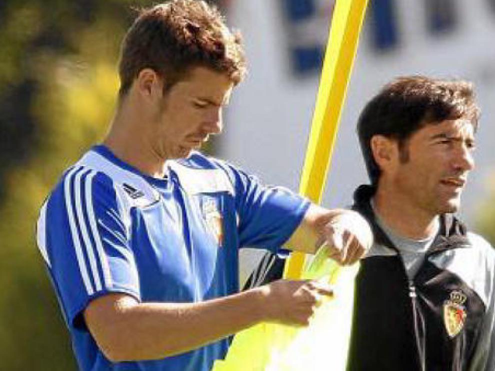 Chus Herrero en un entrenamiento del equipo.