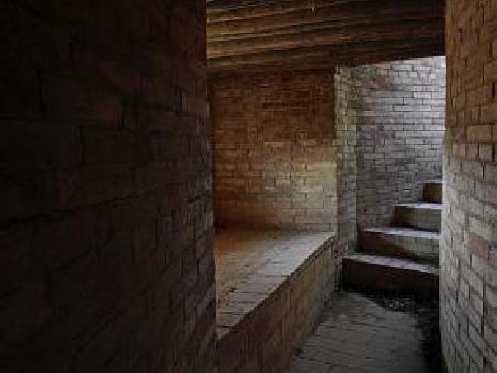 Interior de un búnquer de la Guerra Civil.