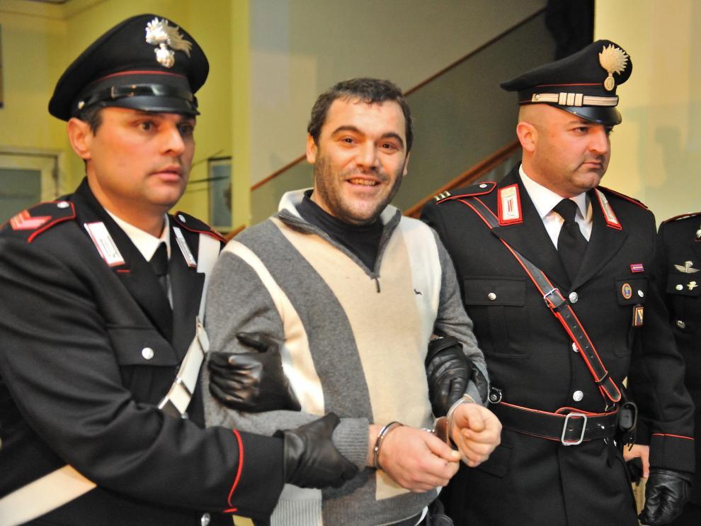 Giuseppe Setola escoltad por los Carabinieri