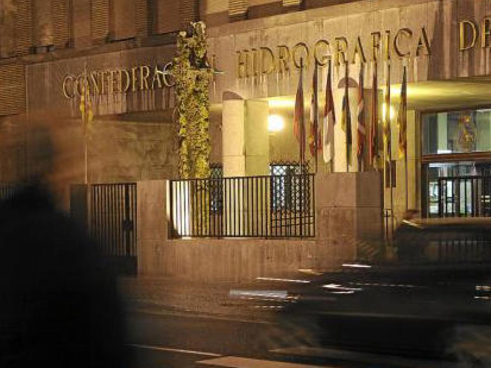 La sede central de la CHE, declarada Bien de Interés Cultural, en una imagen tomada ayer.