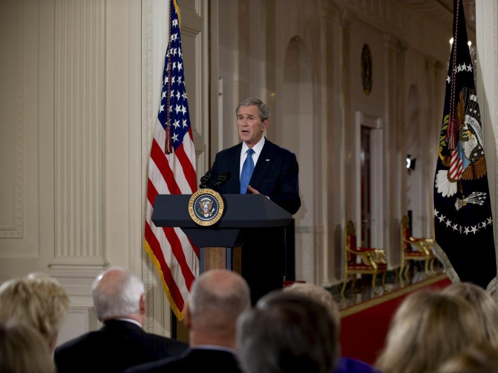 El presidente de EE. UU. George Bush