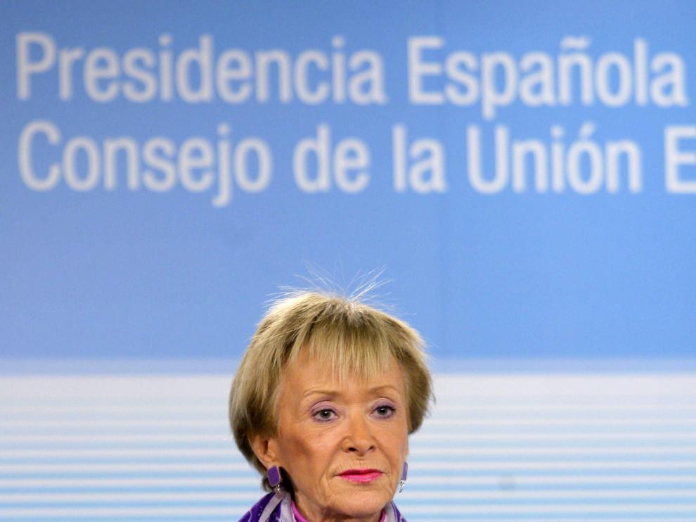 La vicepresidenta primera del Gobierno, María Teresa Fernández de la Vega