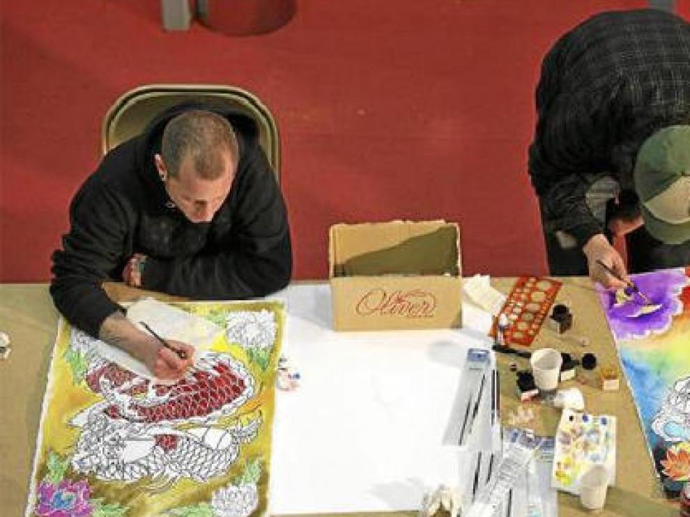Dos de los artistas que participaron en la sesión de 'Fusion Art'