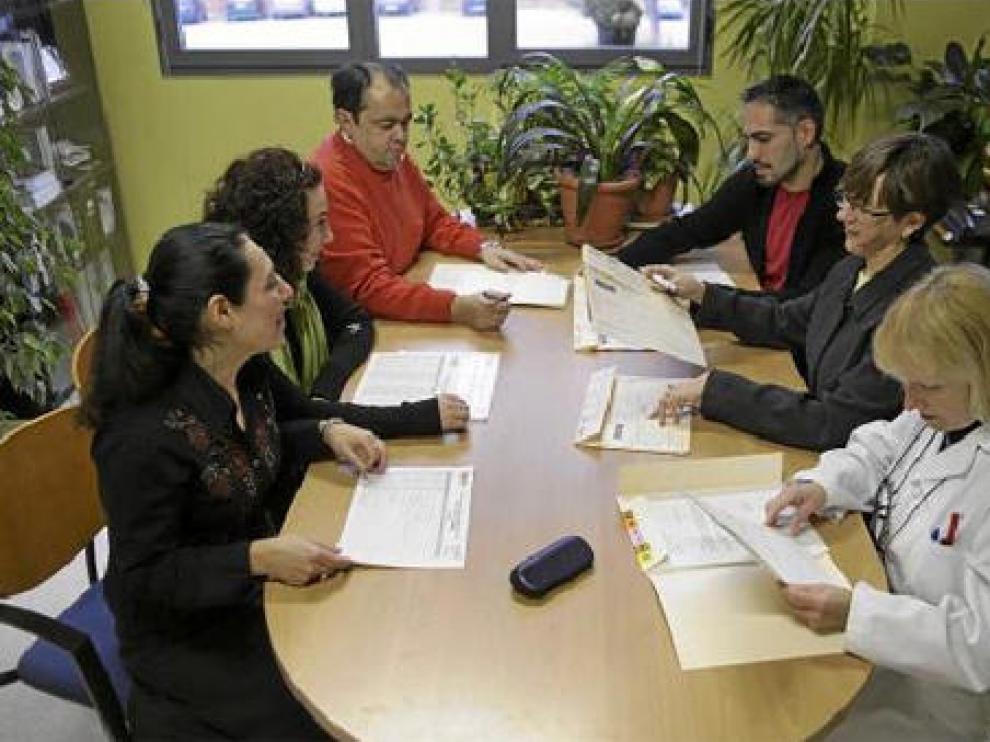 El equipo del ESAD del centro de salud Seminario prepara una jornada de trabajo