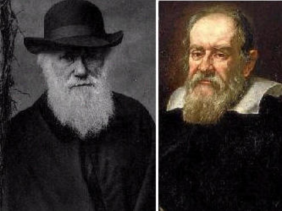 Darwin (izda.) y Galileo