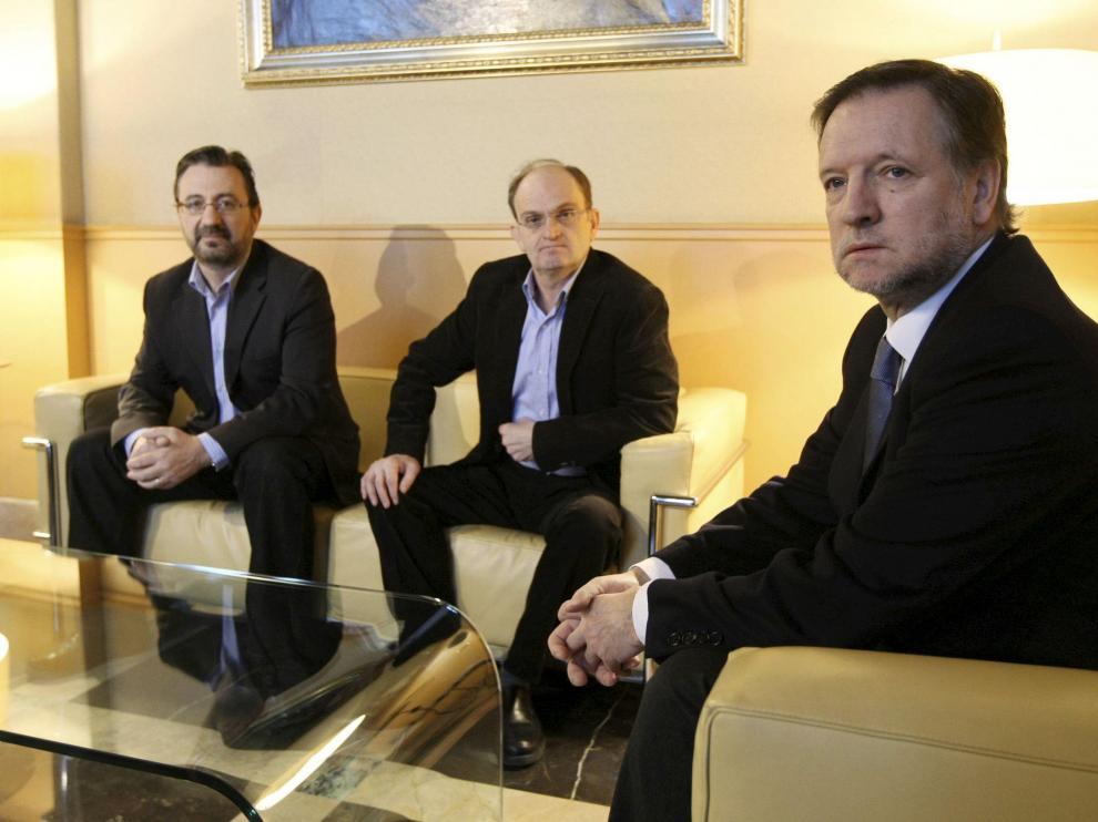 EL presidente aragonés recibió a los representantes sindicales