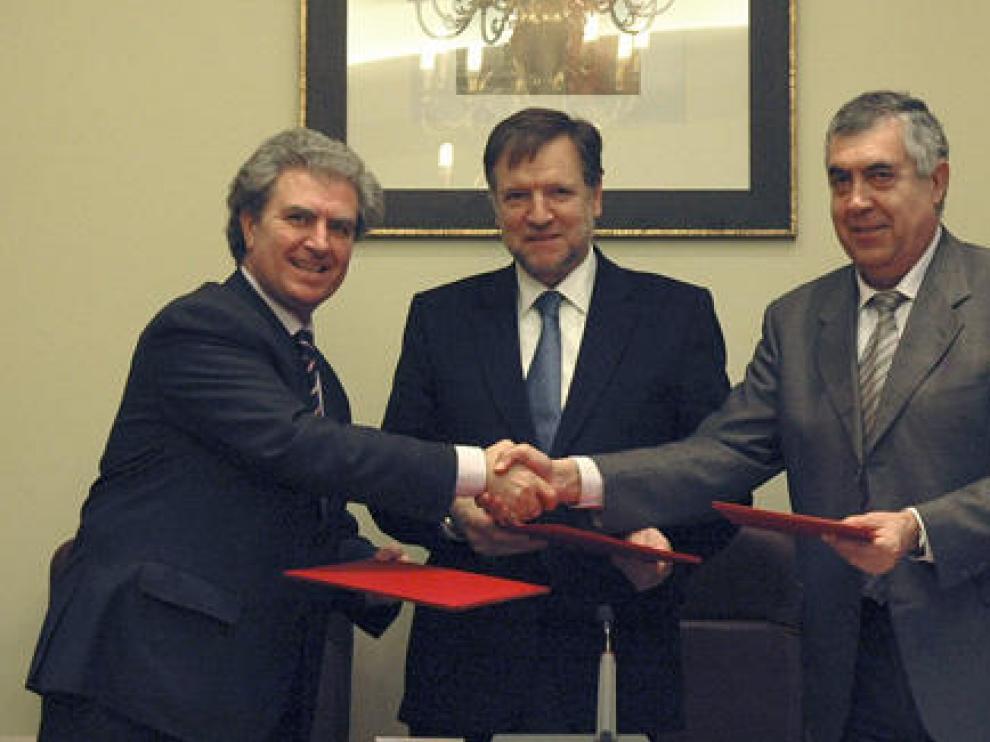 César Antonio Molina, Marcelino Iglesias y Antonio Arrufat